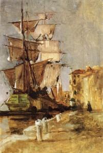 venetian-sailing-vessel_1878_John Henry Twachtman
