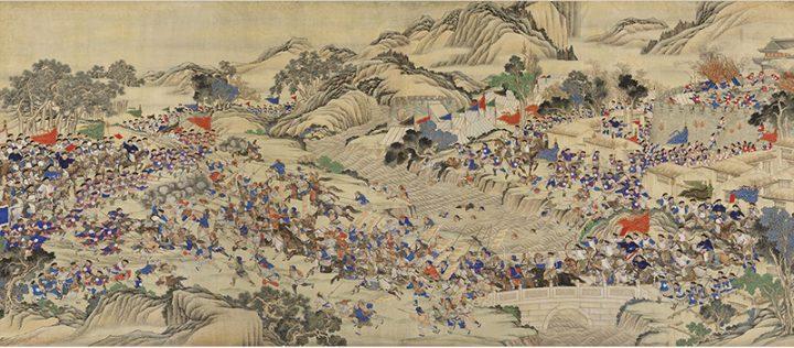 A scene of the Taiping Rebellion, 1850–1864. Wu Youru, 1886.