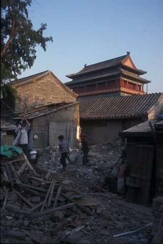 Demolitions in Gulou, courtesy of Claudio Greco.