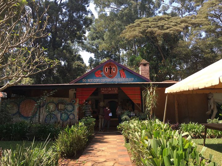 Ridgeway Road Nairobi: This is a very nice african Arts Center, which is typically built with very basic materials.